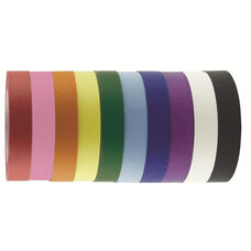 10 Pack Colorful Arts and Craft Masking Tape - Assorted Colors - Each 1