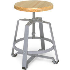 Endure Small Stool with Gray Legs - Maple Seat