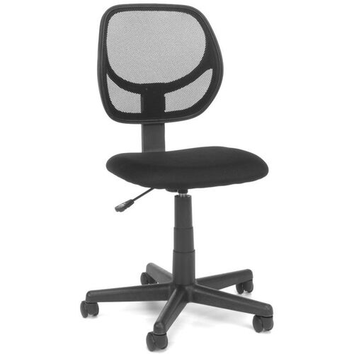 Essentials Height Adjustable Armless Task Chair with Mesh Back - Black