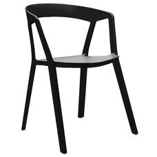 Milan Black Modern Stackable Side Chair - Set of 4
