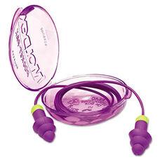 Moldex® Rockets Reusable Earplugs - Corded - 27NRR - Purple/Bright Green - 50 Pairs/Box
