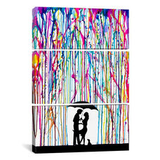 Two Step by Marc Allante Triptych Gallery Wrapped Canvas Artwork - 40
