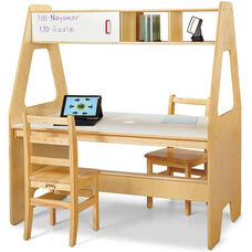 Workspace Center with Overhead Storage