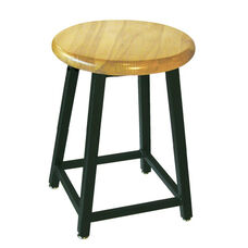 Adjustable Height Stool with Black Steel Frame and 1.25