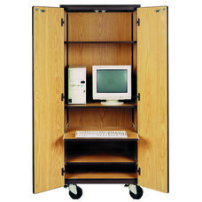 Mobile Computer Center Storage Cabinet