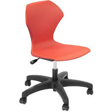 Apex Series Plastic Height Adjustable Task Chair with 5 Star Base - Red Seat - 25