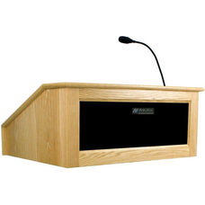 Solid Hardwood Victoria Wired 150 Watt Sound Tabletop Lectern - Maple Finish - 27