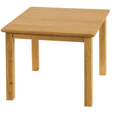 Square Hardwood Table with .75