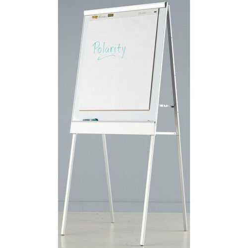 Polarity Magnetic Presentation Flipchart Easel with Dry Erase Surface