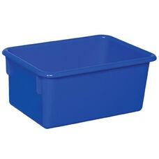 Solid Blue Plastic Cubby Trays - Assembled - 8''W x 12''D x 5''H