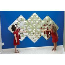Wall Hung Diamond Bubble Wall Mirror