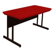Blow-Molded Plastic Top Desk Height Rectangular Work Station - 24