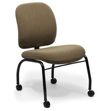 Top Side Chair with Low Backrest and Four Leg Base with Casters - Grade B