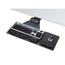 Fellowes® Professional Corner Executive Keyboard Tray - 19w x 14-3/4d - Black