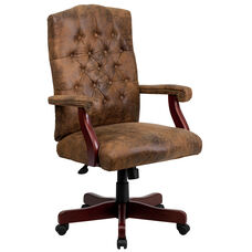 Bomber Brown Classic Executive Swivel Chair with Arms