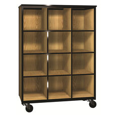 Denali 1000 Series Mobile Cubicle Storage w/ 9 Adjustable Shelves