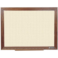 114 Series Wood Frame Tackboard - Fabricork - 36