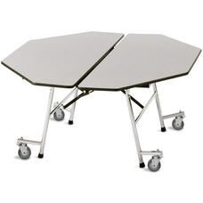 ADA Compliant Fold-N-Roll Octagon Laminate Cafeteria Table with Casters - 60