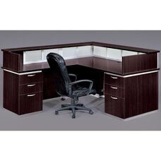 Pimlico Flat Pack Left Reception Desk - Mocha