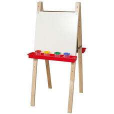 Double Adjustable Marker Board Easels with Solid Maple Legs - 22