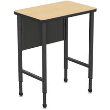 Apex Series Height Adjustable Stand Up Desk with PVC Edge - Sand Shoal Top with Black Edge and Legs - 30