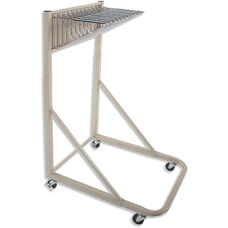 Blueprint Storage Rolling Stand with 12 Pivot Brackets
