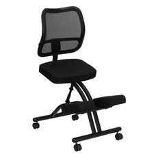 Mobile Ergonomic Kneeling Chair with Black Mesh Back