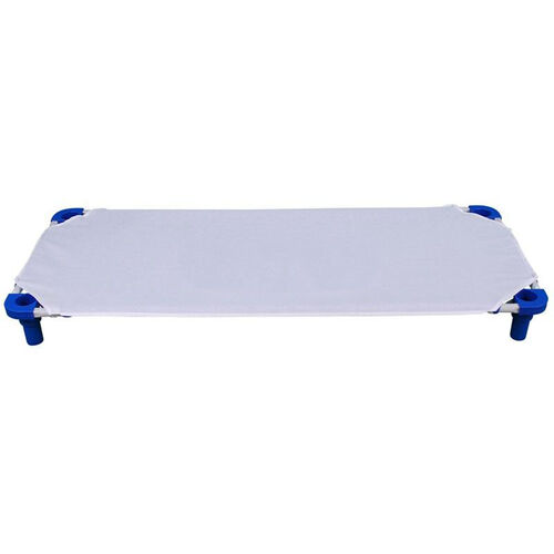 White Cotton and Polyester Fitted Cot Sheet - 40