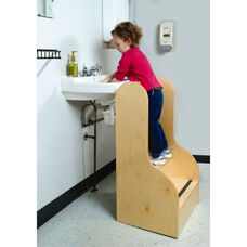Tall Birch Laminate Step Stool with Rounded and Smoothed Edges
