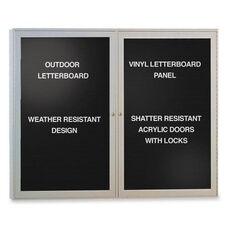Ghent Outdoor Enclosed Letterboards -2 -Door -4