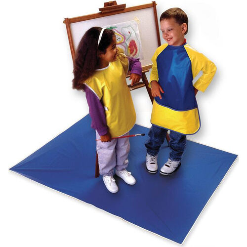 Our Heavy Duty Vinyl Easy Clean Mess Mat - Blue is on sale now.
