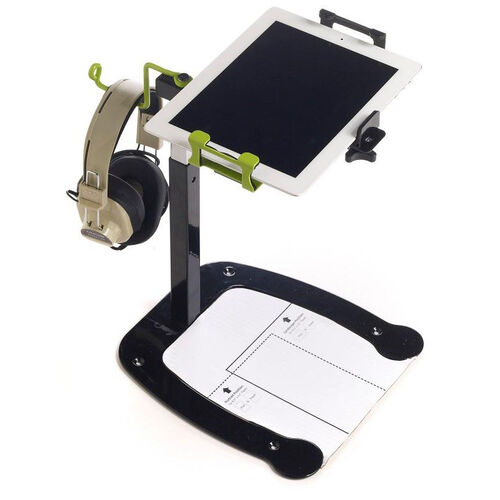 Our Dewey the Document Camera Stand with 90 Degree Rotation Mount and Headphone Holder - 10.75