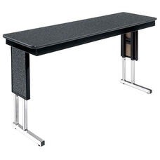 Customizable Symposium Adjustable Height Training Table with Chrome Legs - 18''W x 72''D x 30''H