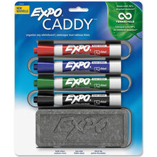 Sanford Brands Expo Whiteboard Caddy Organizer - Set of 4 Markers