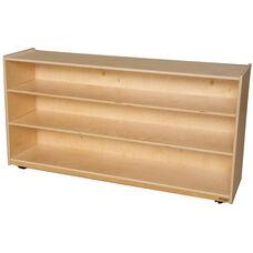 Wooden Mobile 3 Shelf Storage Unit - 58