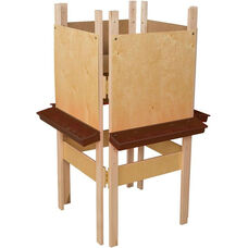4-Sided Adjustable Art Easel with Plywood and Brown Trays - 24