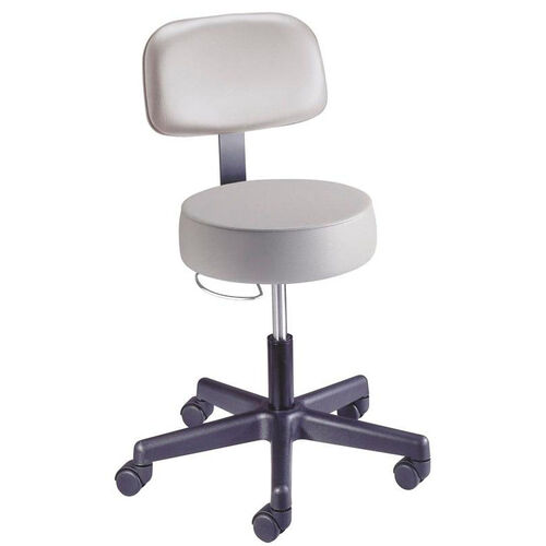 Value Plus Series - Pneumatic Exam Stool with Back