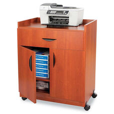 Safco® Mobile Laminate Machine Stand w/Pullout Drawer - 30w x 20-1/2d x 36-1/4h - Cherry