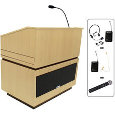 Coventry Wireless 150 Watt Sound Multimedia Lectern - Maple Finish - 30