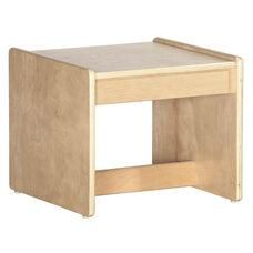 Birch Hardwood Preschool Living Room Set End Table - 15