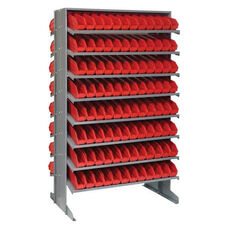 Sloped Shelving Double Sided Pick Rack Unit with 192 Bins - Red