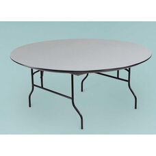 NLW Series Large Lightweight 72''Diameter Round Plastic Folding Table - 30''H