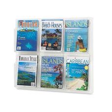 Safco Magazine Display Rack - 6 Pocket - 30