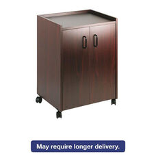 Safco® Mobile Refreshment Center - One-Shelf - 23w x 18d x 31h - Mahogany