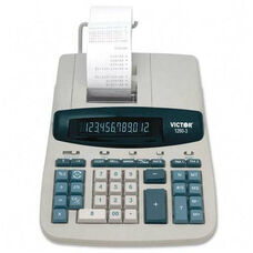 Victor Technology 12 Digit Calculator -2 Color Printing -8