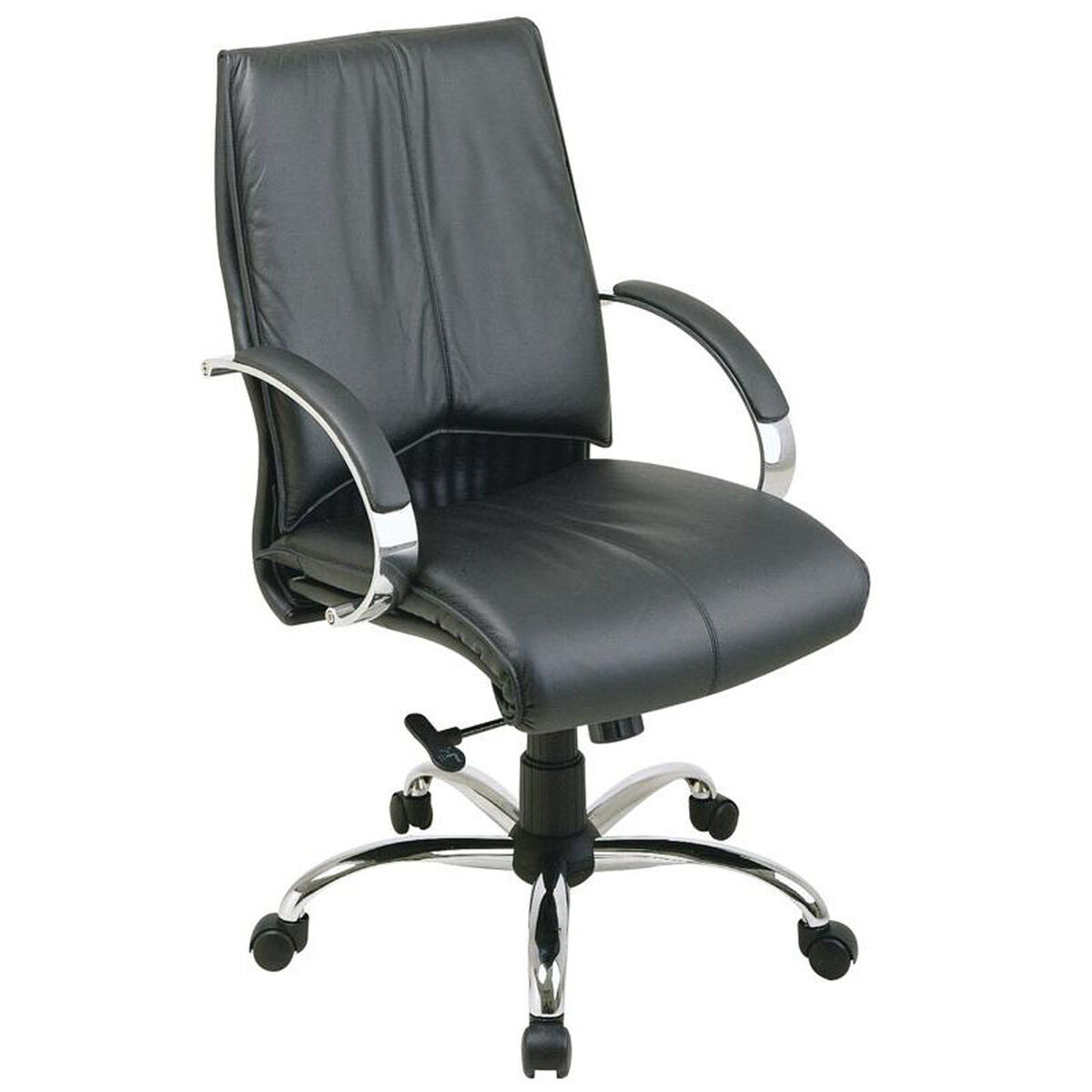 Pro Line Ii Black Leather Chair 8201 Schoolfurniture4less Com