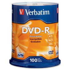Verbatim Datalife Plus Printable Dvd-R Discs - Pack Of 100