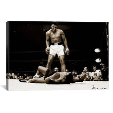 Muhammad Ali Vs. Sonny Liston, 1965 by Unknown Artist Oversized Gallery Wrapped Canvas Artwork - 60