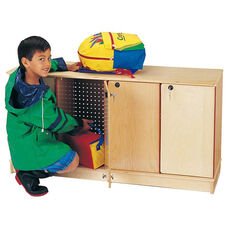Stacking Lockable Lockers - 4 Sections