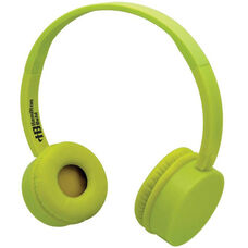 Yellow Kidzphonz Headset with In-Line Microphone and AudioSafe™ Adapter Cable